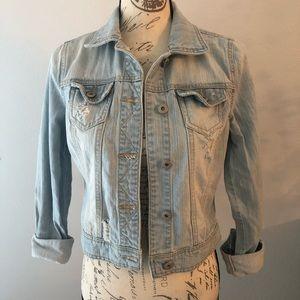 MUDD | Distressed Jean Jacket Size M